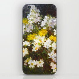 Daisies, Hydrangea and Yarrow Flowers iPhone Skin