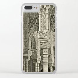 Court of the Lions; Alhambra, Spain Clear iPhone Case