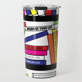 Pop Art Bookshelf Travel Mug