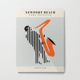 Vintage poster-Jazz festival-Newport beach 2. Metal Print