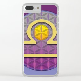 Flower of Life LIBRA Astrology Design Clear iPhone Case