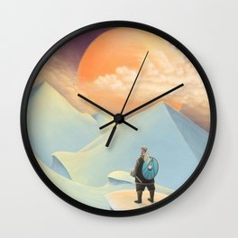Thor going to Jotunheim Wall Clock