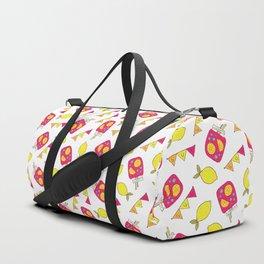 Modern neon pink yellow lemonade summer drink Duffle Bag