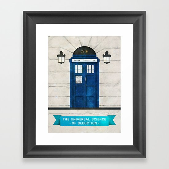 Doctor Who & Sherlock Framed Art Print