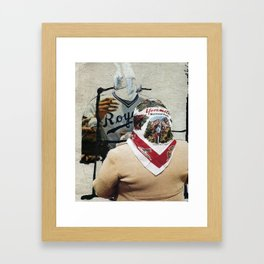 In Conversation With One Another Framed Art Print