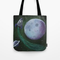 Rocket to the Moon Tote Bag