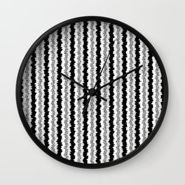 Black White and Silver Vertical Jiggle Wall Clock