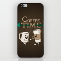 coffee iPhone & iPod Skins featuring Coffee Time! by powerpig