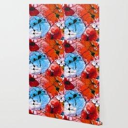 Red Flower Art - Wild Flowers - Sharon Cummings Wallpaper
