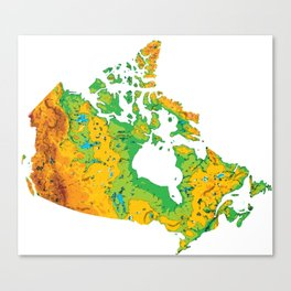 Physically Canada Canvas Print