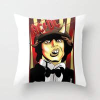 acdc Throw Pillows featuring Rockarture ACDC by JHC Studio