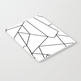 Simple Modern Black and White Geometric Pattern Notebook