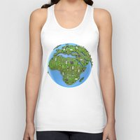 data Tank Tops featuring Data Earth by GrandeDuc