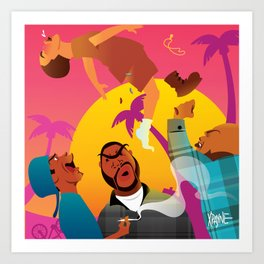 Knocked The Eff Out Art Print