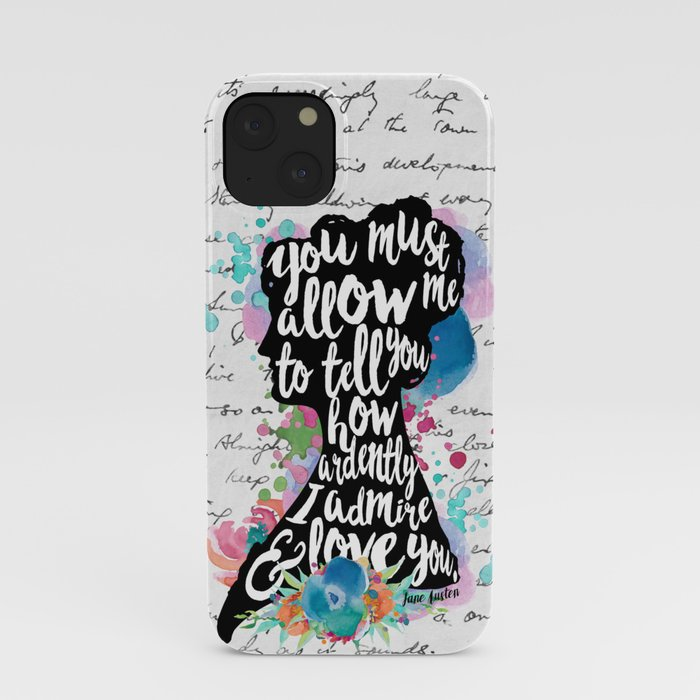 Mr. Darcy - Ardently Admire & Love You iPhone Case