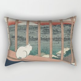 Asakusa Rice Fields, Hiroshige Rectangular Pillow