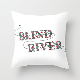 BR Holiday Lights Throw Pillow