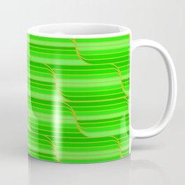 Geo Stripes - Green Coffee Mug