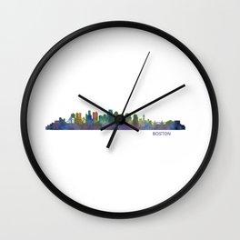 Boston Massachusetts City Skyline Hq V1 Wall Clock