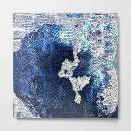 Moon geometric thread Metal Print