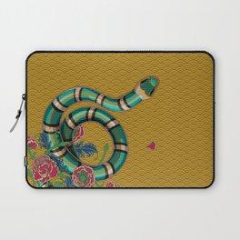 Snake Peonies Laptop Sleeve