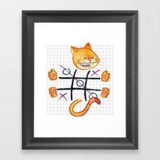 Tic Cat Toe Framed Art Print