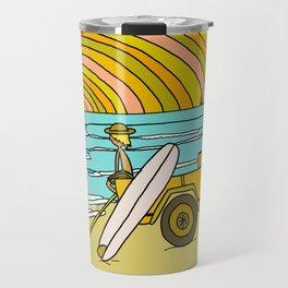 classic summer surf vibes forever Travel Mug