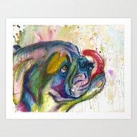 Bulldog Slurp Art Print