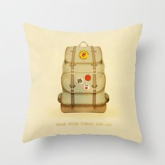 PACK AND GO Throw Pillow