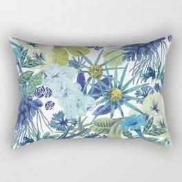 FLOWERPOWER (BLUE) Rectangular Pillow