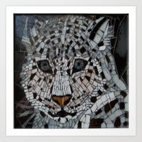 snow leopard Art Prints featuring Snow Leopard by ira gora