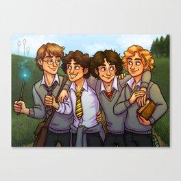 Les Amis at Hogwarts Canvas Print