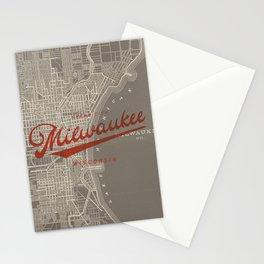 Milwaukee Map Stationery Cards