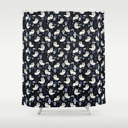 Ghost Cats in the Cemetery Shower Curtain