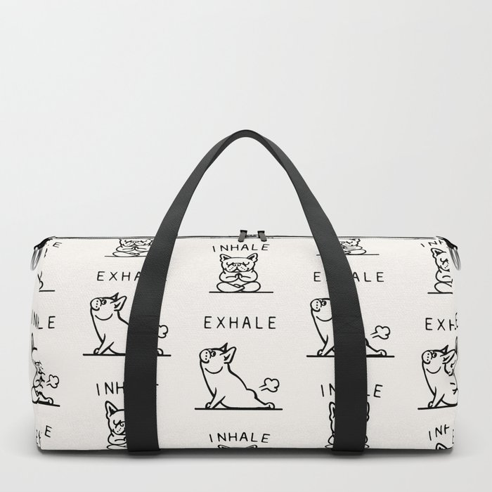 Inhale Exhale Frenchie Duffle Bag