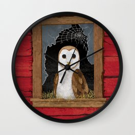 Barn Owl Wall Clock