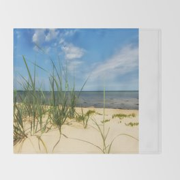 Beach Gras Impressions Throw Blanket