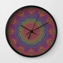 Neon Candescent Tiles Mandala 2 Wall Clock