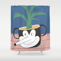 plant Shower Curtains featuring Plant by Elena Éper