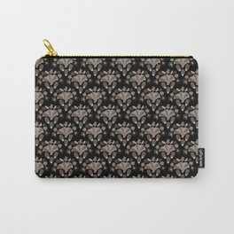 Penelope Black and White Floral Botanical Print Carry-All Pouch