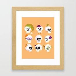 Silly Skulls Framed Art Print