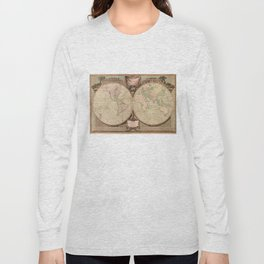 Vintage Map of The World (1808) Long Sleeve T-shirt