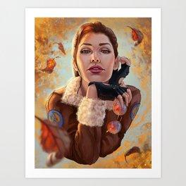 Tomb Raider: Bomber Jacket Art Print