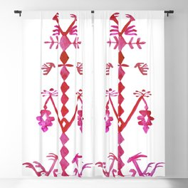 Ethnic Kilim Pattern Tree of Life Blackout Curtain