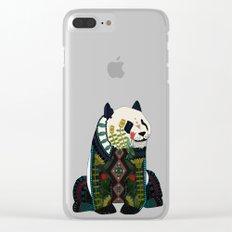 panda silver Clear iPhone Case