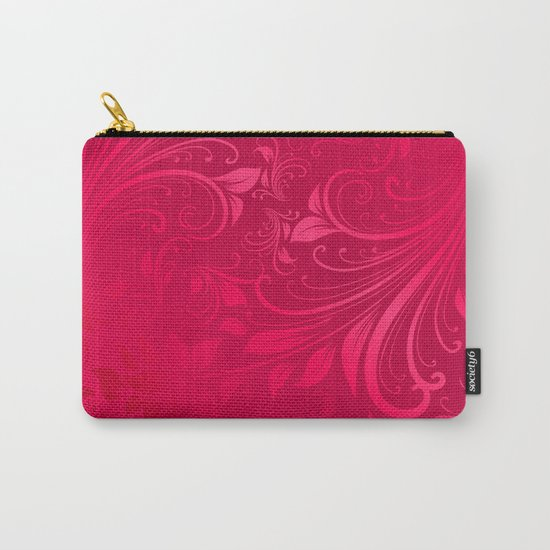 Pink swirls leaves Carry-All Pouch