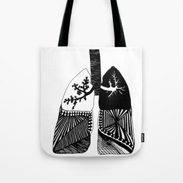 Particle Filtration - Lungs - Respiratory System Tote Bag