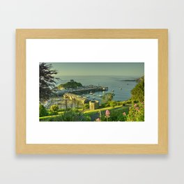 Ilfracombe Harbour Summer Framed Art Print