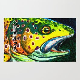 Tumbling Trout Logo - Trout Head Rug