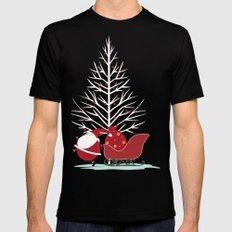 Happy Santa Mens Fitted Tee 2X-LARGE Black